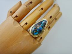 Michael Kneebone Michael Kneebone Boulder Opal 18K Yellow Gold Cocktail Ring - 1230463