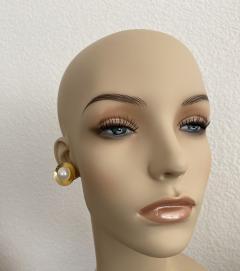 Michael Kneebone Michael Kneebone Button Pearl 18K Yellow Gold Earrings - 1939811