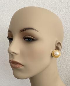 Michael Kneebone Michael Kneebone Button Pearl 18K Yellow Gold Earrings - 1939813