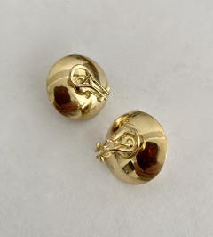 Michael Kneebone Michael Kneebone Button Pearl 18K Yellow Gold Earrings - 1939817