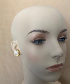 Michael Kneebone Michael Kneebone Button Pearl 18k Yellow Gold Button Earrings - 1467365