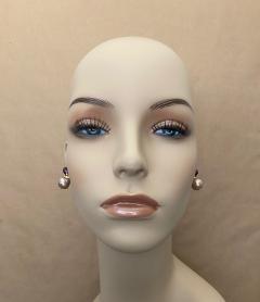 Michael Kneebone Michael Kneebone Cabochon Amethyst Diamond Japanese Pearl Drop Earrings - 1499114