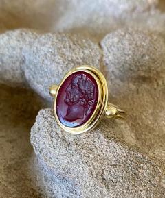Michael Kneebone Michael Kneebone Carnelian intaglio Archaic Style Ring - 1631034