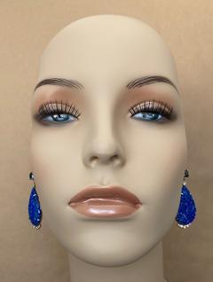 Michael Kneebone Michael Kneebone Carved Lapis Lazuli Blue Topaz Diamond Dangle Earrings - 1569393