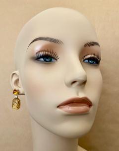 Michael Kneebone Michael Kneebone Citrine Carved Citrine White Diamond Dangle Earrings - 1567680