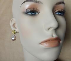 Michael Kneebone Michael Kneebone Citrine Pink Tourmaline Kasumi Pearl Flower Dangle Earrings - 1118121