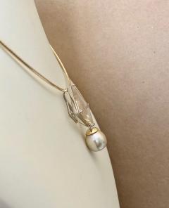 Michael Kneebone Michael Kneebone Fantasy Cut Rutile Quartz Golden South Seas Pearl Pendant - 1448821