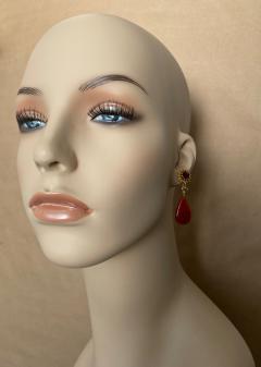 Michael Kneebone Michael Kneebone Garnet Yellow Sapphire Fire Opal Diamond Dangle Earrings - 1360186