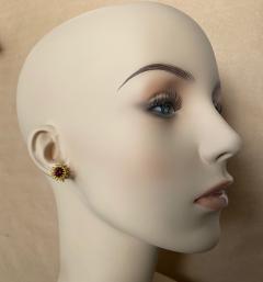 Michael Kneebone Michael Kneebone Garnet Yellow Sapphire Fire Opal Diamond Dangle Earrings - 1360208