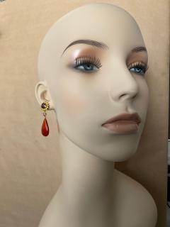 Michael Kneebone Michael Kneebone Garnet Yellow Sapphire Fire Opal Diamond Dangle Earrings - 1360210