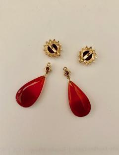 Michael Kneebone Michael Kneebone Garnet Yellow Sapphire Fire Opal Diamond Dangle Earrings - 1360216