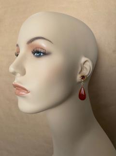 Michael Kneebone Michael Kneebone Garnet Yellow Sapphire Fire Opal Diamond Dangle Earrings - 1360219