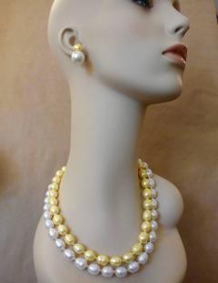 Michael Kneebone Michael Kneebone Golden Pearl White Pearl Baroque Double Strand Necklace - 1082816