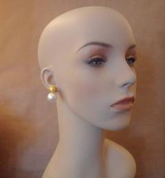 Michael Kneebone Michael Kneebone Golden and White South Seas Pearl Earrings - 1082836