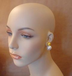 Michael Kneebone Michael Kneebone Golden and White South Seas Pearl Earrings - 1082839