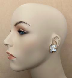 Michael Kneebone Michael Kneebone Gray Tile Pearl Button Earrings - 1585003