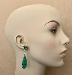 Michael Kneebone Michael Kneebone Green Topaz Diamond Green Onyx Dangle Earrings - 1689260