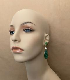 Michael Kneebone Michael Kneebone Green Topaz Diamond Green Onyx Dangle Earrings - 1689262