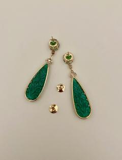 Michael Kneebone Michael Kneebone Green Topaz Diamond Green Onyx Dangle Earrings - 1689269