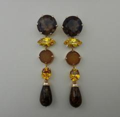 Michael Kneebone Michael Kneebone Jasper Bead Necklace Multi Gemstone Dangle Earring Suite - 996835