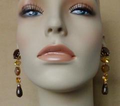 Michael Kneebone Michael Kneebone Jasper Bead Necklace Multi Gemstone Dangle Earring Suite - 996838