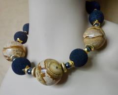 Michael Kneebone Michael Kneebone Jasper Bead Necklace Multi Gemstone Dangle Earring Suite - 996839