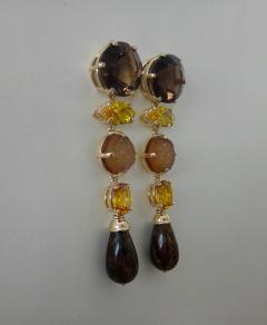 Michael Kneebone Michael Kneebone Jasper Bead Necklace Multi Gemstone Dangle Earring Suite - 996841