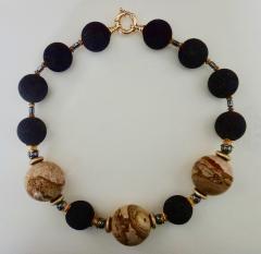 Michael Kneebone Michael Kneebone Jasper Lava Rock Hematite Bead Necklace - 996843