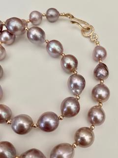 Michael Kneebone Michael Kneebone Lavender Baroque Pearl Necklace - 1619433