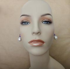 Michael Kneebone Michael Kneebone Lavender Zircon Paspaley South Seas Pearl Drop Earrings - 1300720