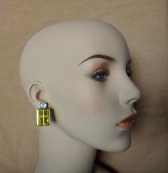 Michael Kneebone Michael Kneebone Lemon Citrine Blue Topaz Geometric Drop Earrings - 1012169