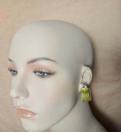 Michael Kneebone Michael Kneebone Lemon Citrine Blue Topaz Geometric Drop Earrings - 1012171