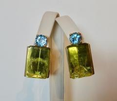 Michael Kneebone Michael Kneebone Lemon Citrine Blue Topaz Geometric Drop Earrings - 1012174