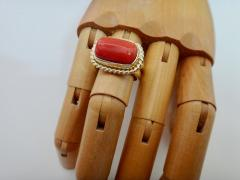 Michael Kneebone Michael Kneebone Mediterranean Red Coral 18k Gold Ring - 1137625
