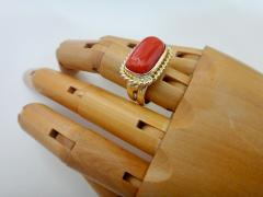 Michael Kneebone Michael Kneebone Mediterranean Red Coral 18k Gold Ring - 1137627