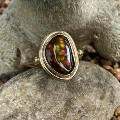Michael Kneebone Michael Kneebone Mexican Fire Agate Archaic Style Ring - 1940120