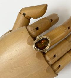 Michael Kneebone Michael Kneebone Mexican Fire Agate Archaic Style Ring - 1940121
