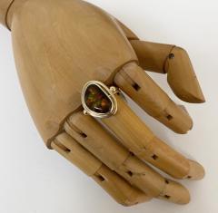 Michael Kneebone Michael Kneebone Mexican Fire Agate Archaic Style Ring - 1940123