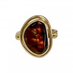 Michael Kneebone Michael Kneebone Mexican Fire Agate Archaic Style Ring - 1940495