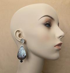 Michael Kneebone Michael Kneebone Moonstone Diamond Mother Of Pearl Black Pearl Dangle Earrings - 1562853