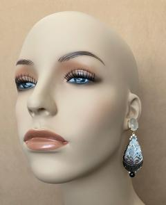 Michael Kneebone Michael Kneebone Moonstone Diamond Mother Of Pearl Black Pearl Dangle Earrings - 1562855