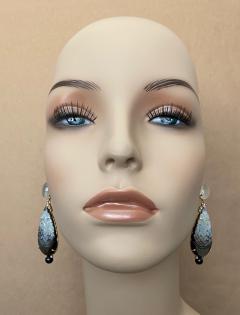 Michael Kneebone Michael Kneebone Moonstone Diamond Mother Of Pearl Black Pearl Dangle Earrings - 1562857