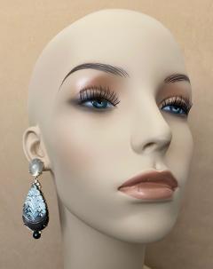 Michael Kneebone Michael Kneebone Moonstone Diamond Mother Of Pearl Black Pearl Dangle Earrings - 1562860
