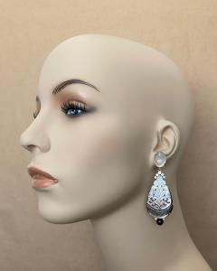 Michael Kneebone Michael Kneebone Moonstone Diamond Mother Of Pearl Black Pearl Dangle Earrings - 1562862