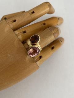 Michael Kneebone Michael Kneebone Morganite 18k Yellow Gold Leah Ring - 1939843