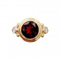 Michael Kneebone Michael Kneebone Mozambique Garnet Rose Cut Diamond Archaic Style Ring - 1514490