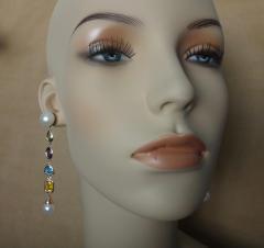Michael Kneebone Michael Kneebone Multi gemstone Paspaley South Seas Pearl Dangle Earrings - 1225446