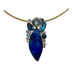 Michael Kneebone Michael Kneebone Opal Topaz Aquamarine Sapphire Diamond Confetti Pendant - 1167147