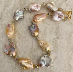 Michael Kneebone Michael Kneebone Pastel Baroque Pearl Granulated Bead Necklace - 1898366