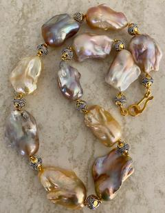 Michael Kneebone Michael Kneebone Pastel Baroque Pearl Granulated Bead Necklace - 1898368